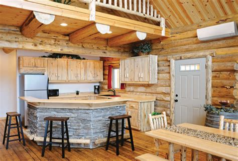 kitchen heat staining your log cabin