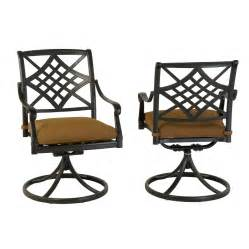 Rocking Swivel Patio Chairs Shop Allen Roth Set Of 2 Whitley Place Burnished Black Powder Coated Aluminum Swivel Rocker
