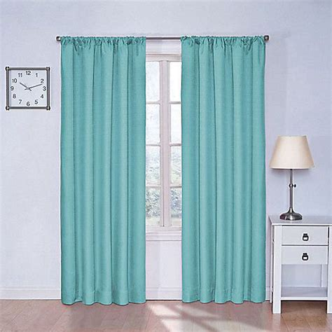 turquoise curtain rod solarshield 174 kate rod pocket room darkening window curtain