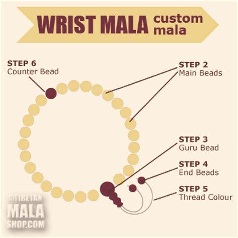 how to make mala custom wrist mala tibetan prayer