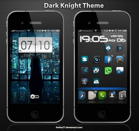 Themes In Iphone 4s | dark knight theme iphone 4 4s by ferkno77 on deviantart