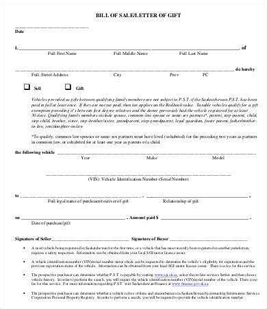 printable bill sale word documents