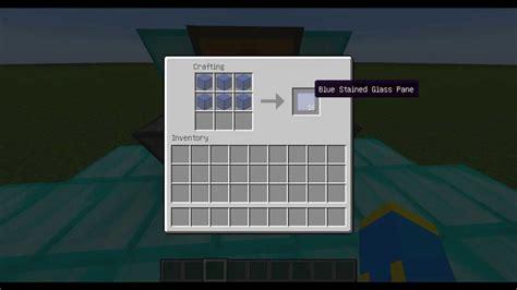 how to make a stained glass l minecraft jak zrobić niebieską szybę minecraft how to