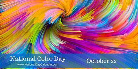 color nation national color day october 22 national day calendar