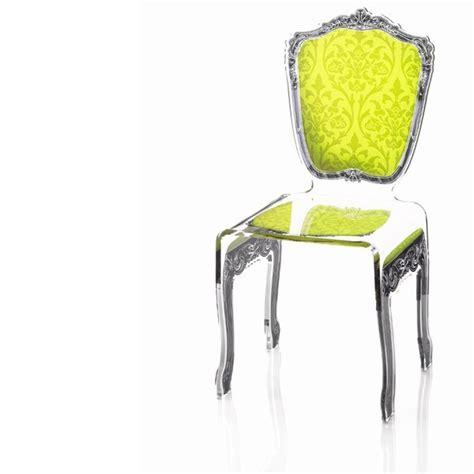 chaise baroque transparente chaise transparente en plexi baroque