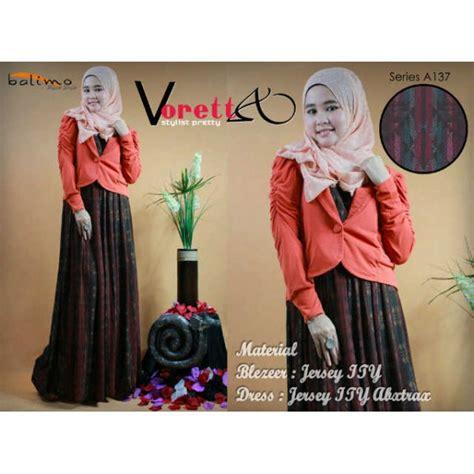 Syaluna Dress Gamis b voretta bata baju muslim gamis modern