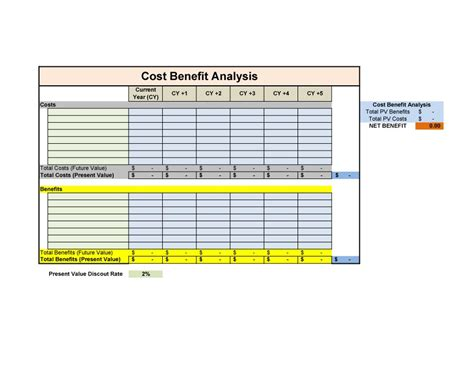 Cost Template 41 Free Cost Benefit Analysis Templates Exles Free