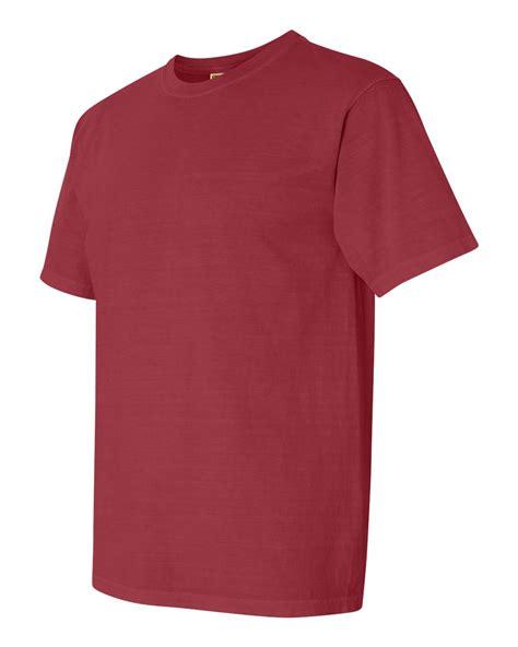 crimson comfort colors comfort colors pigment dyed short sleeve 100 cotton t