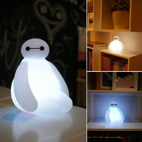 kids bedroom lights big hero 6 cartoon baymax led night light white cute table