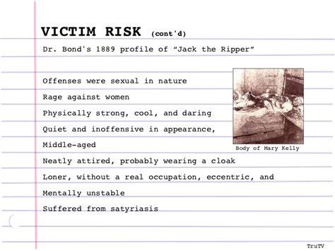 criminal profile template criminal profiling
