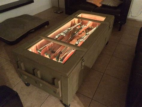 mosin crate coffee table mosin nagant crate turned coffee table