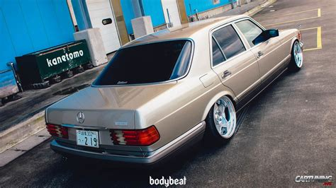lowered mercedes lowered mercedes benz s class w126 rear