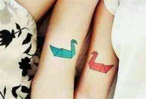 tattoo ink couples cute best friend or couple tattoo idea crane bird ink