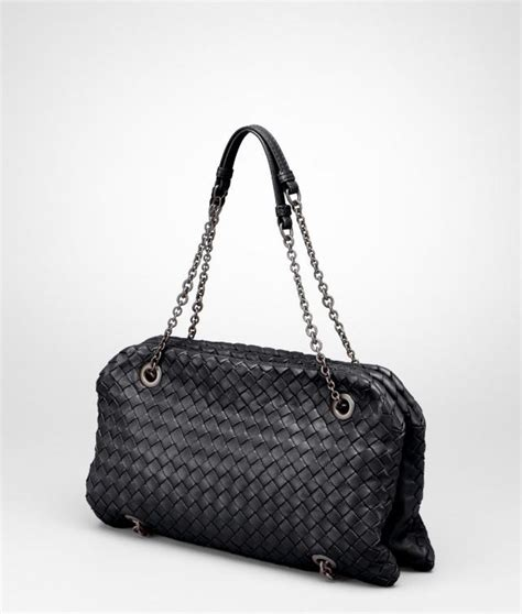 Bottega Veneta Colibri Bag by Bottega Veneta Nero Intrecciato Nappa Duo Bag In Black
