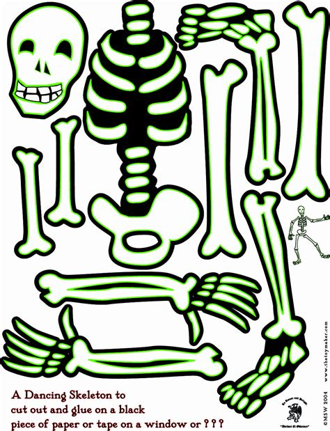 skeleton template to cut out 6 best images of large printable skeleton template