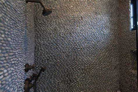 river rock bathroom tile shower with river rock tiles eclectic bathroom
