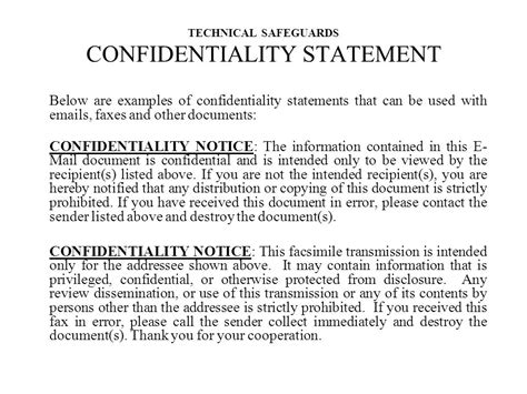 statement of confidentiality of report sle t r a i n i n g d h c s i n f o r m a t i o n ppt