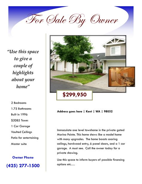 House For Sale Flyer Google Search Real Estate Flyers Pinterest Real Estate Flyers And Template For Selling A House