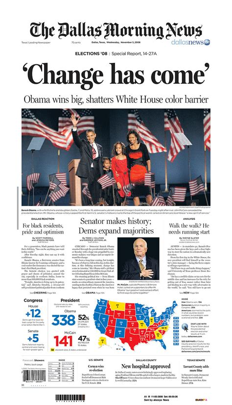 obituary headlines the dallas morning news obama newspaper front page headlines of barack obama