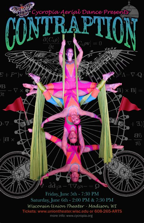 Madison Wi show posters cycropia aerial dance