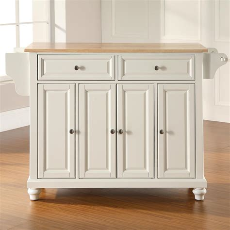 white kitchen island with natural top cambridge natural wood top kitchen island white dcg stores