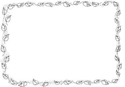 Leaf Border Coloring Pages | fall leaves page border clipart clipartsgram leaf border
