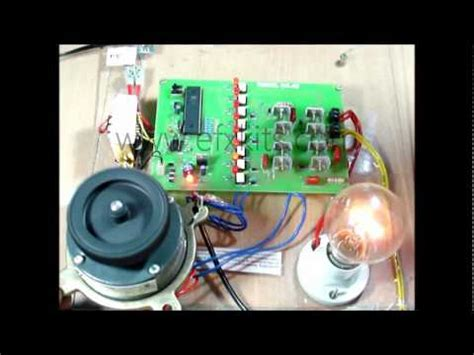 mini project on induction motor microcontroller based speed of three phase motor