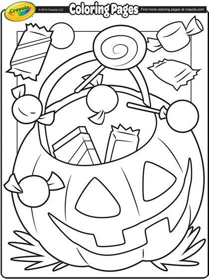 halloween treats coloring page crayola com
