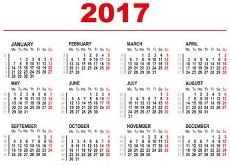 chinese calendar 2017 weekly calendar template