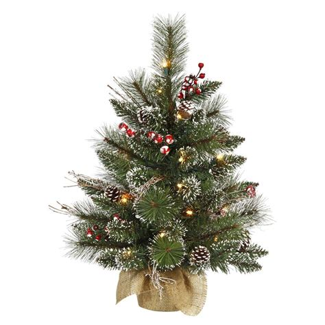 vickerman snow tip pine berry tabletop christmas tree