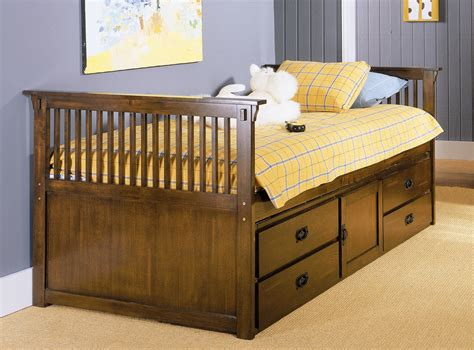 twin captain bed with storage homelegance santee mission twin captain bed with storage