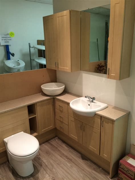 bathrooms displays 50 off plus a further 15 off ex display fitted furniture