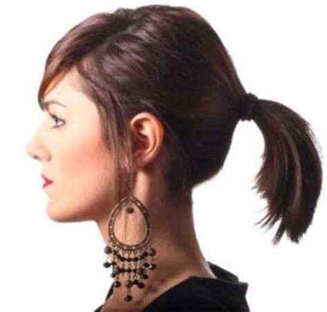 ponytail haircut where to position ponytail short hairstyles ponytail hairstyles for short hair