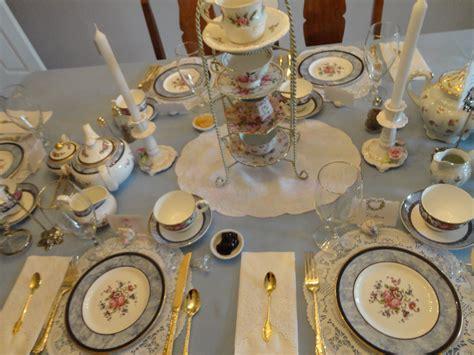 Tea Table Setting by A Springtime Afternoon Tea Glitz Glam Gluten Free