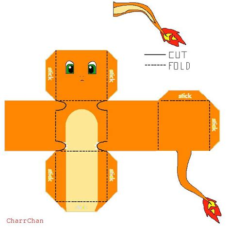 Origami Charmander - 150 best images about cube crafts on pikachu