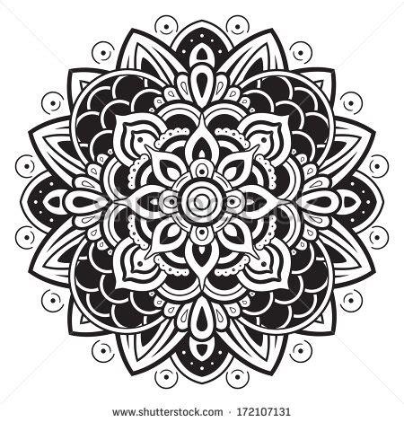 mandala tattoo vector moroccan henna silhouette mandala pattern shutterstock