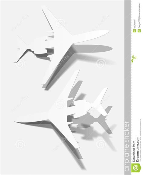 design elements plane airplane sticker realistic design elements royalty free