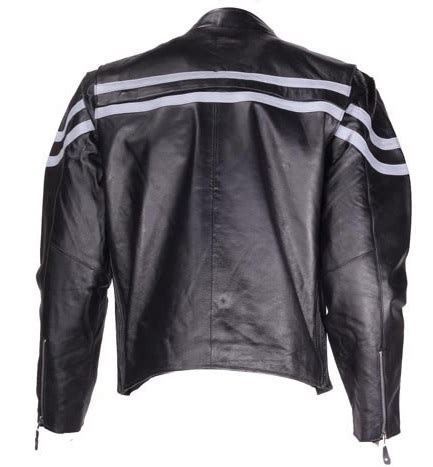 vented leather motorcycle jacket mens vented leather motorcycle jacket with gray stripes