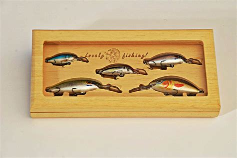 best gift for the fisherman wooden tackle box with 5