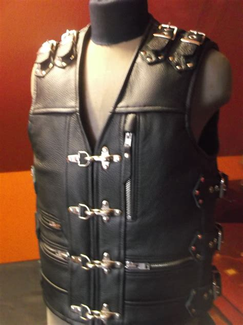 Handmade Leather Vest - heavy thick leather 18 2mm handmade biker vest motorcycle