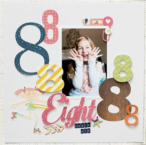 scrapbook layout ideas for birthday 8th birthday scrapbook layout scrapbooking layouts