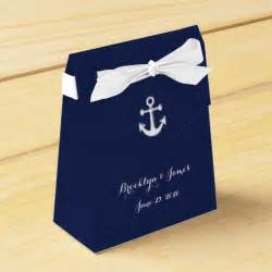 Blue Wedding Favor Boxes by Navy Blue Nautical Wedding Favor Boxes With Anchor Zazzle