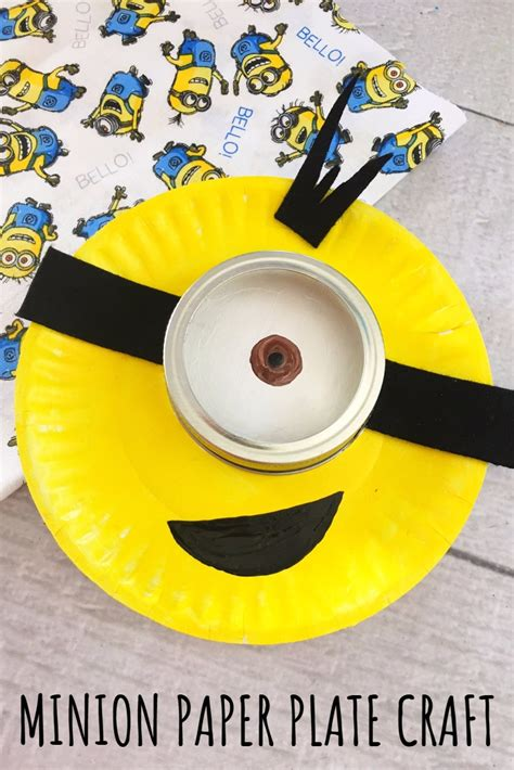 Easy Paper Plate Crafts For - minion paper plate craft for easy rainy day activity