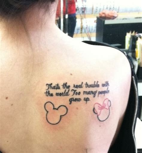 tattoo quotes disney 1261 best tattoos disney images on pinterest
