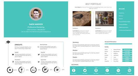Portfolio Cv by Stock Powerpoint Templates Free Every Weeks