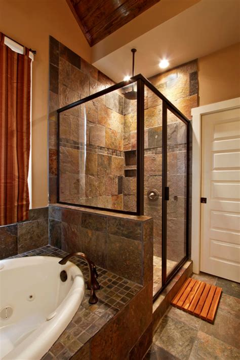 Craftsman Style Bathroom Ideas by Breathtaking Slate Tile Decorating Ideas For Bathroom