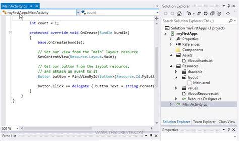 xamarin tutorial visual studio android ตอนท 3 พ นฐาน xamarin บน visual studio และการสร าง