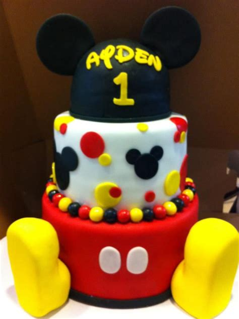 mickey mouse birthday cake r amp a cakes pinterest