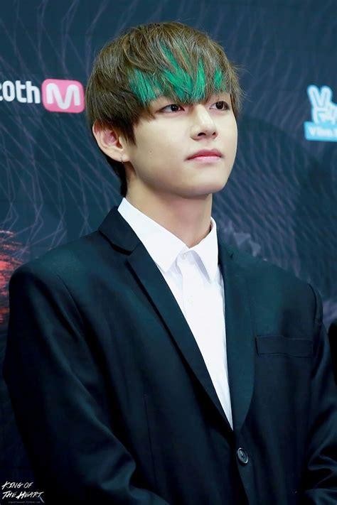 kim taehyung black hair 7 of bts v s most outrageous hair colors koreaboo