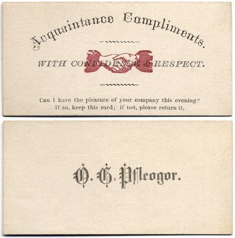 19th Century Calling Card Templates by May I See You Home 19th Century Calling Cards Guaranteed